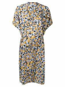 Christian Wijnants Dipha foliage print dress - Blue