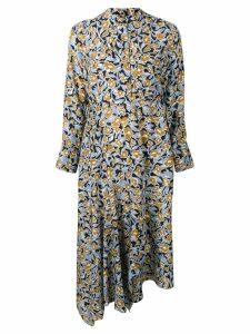 Christian Wijnants Dhana foliage print dress - Blue