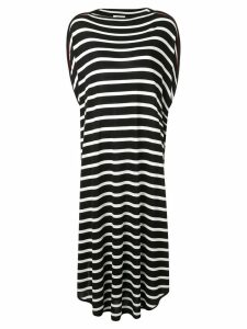 Mm6 Maison Margiela long striped dress - Black