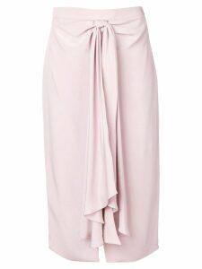 Giorgio Armani tie detail skirt - Pink