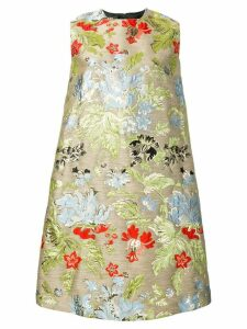 Rochas embroidered A-line dress - Neutrals