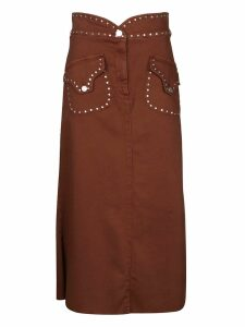Alberta Ferretti Studded Skirt