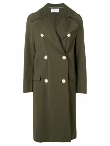 Harris Wharf London double breasted peacoat - Green