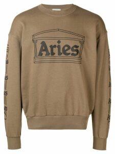 Aries logo print sweatshirt - Green