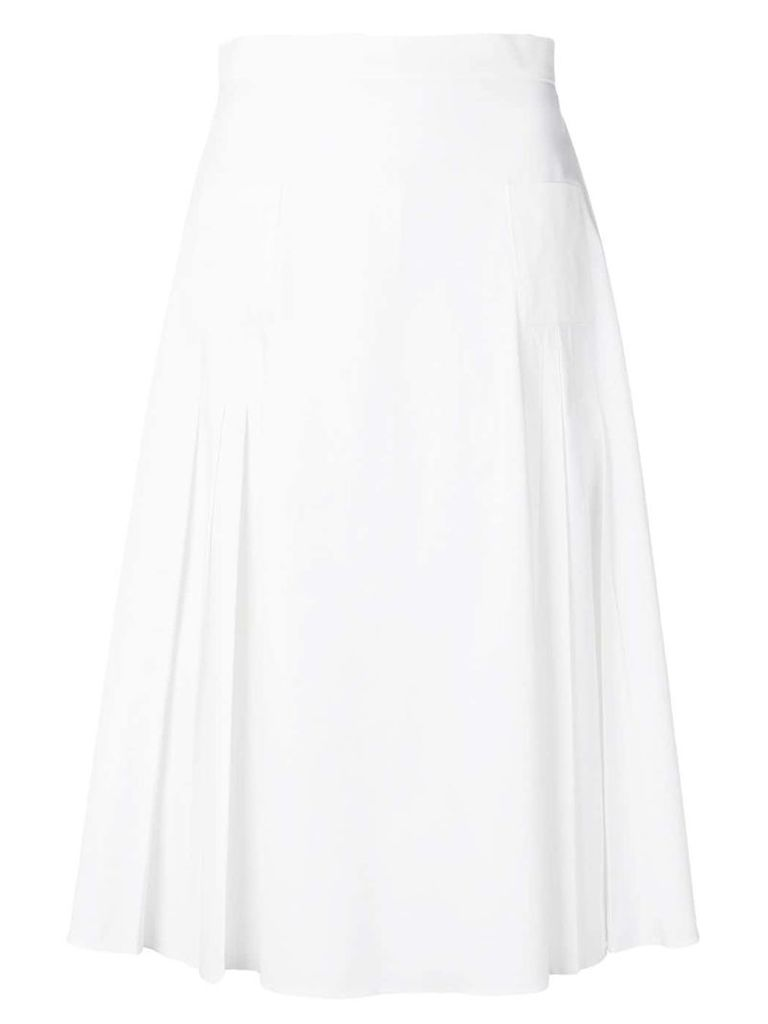 Rochas high waisted pleated skirt - White