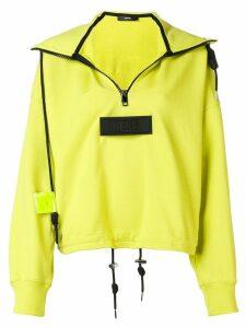 Diesel logo half-zip sweatshirt - Yellow