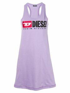 Diesel logo oversized tank top - Purple