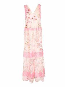 TwinSet Floral Georgette Long Dress
