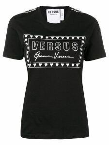 Versus logo print T-shirt - Black