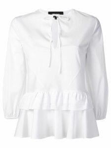 Rochas tiered peplum shirt - White