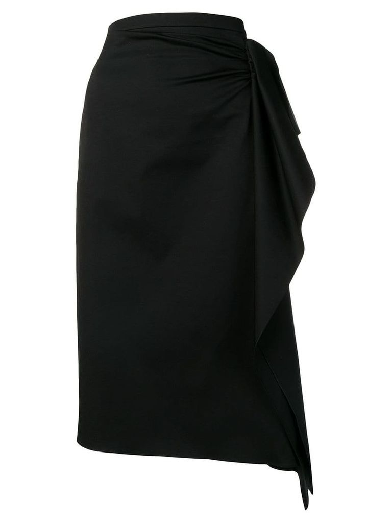 Rochas draped pencil skirt - Black