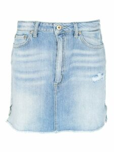 Dondup Distressed Denim Skirt
