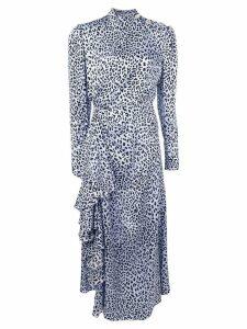 Alessandra Rich leopard print dress - Blue