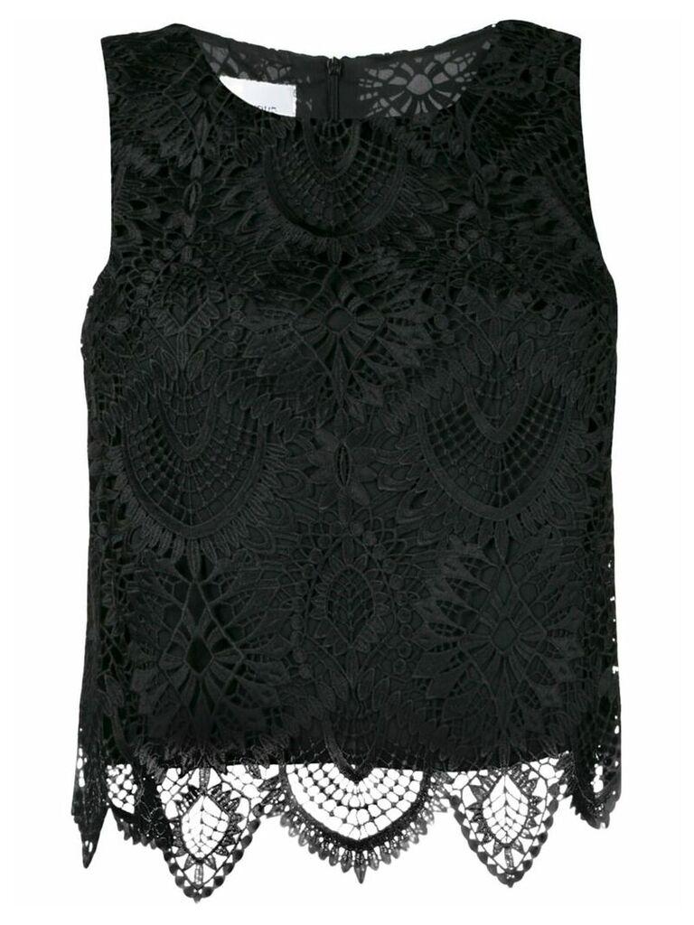 Dondup crochet top - Black