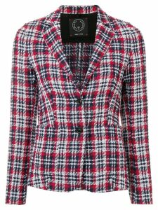 T Jacket plaid fitted blazer - Red