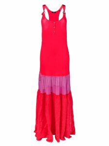 Diesel colour-block maxi dress - Red
