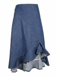 Kenzo Asymmetric Denim Skirt