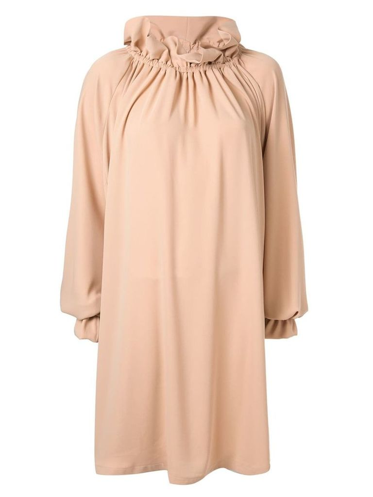Mm6 Maison Margiela gathered loose fit dress - Neutrals