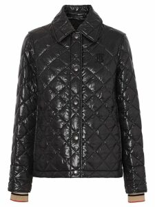 Burberry Monogram Motif Diamond Quilted Jacket - Black