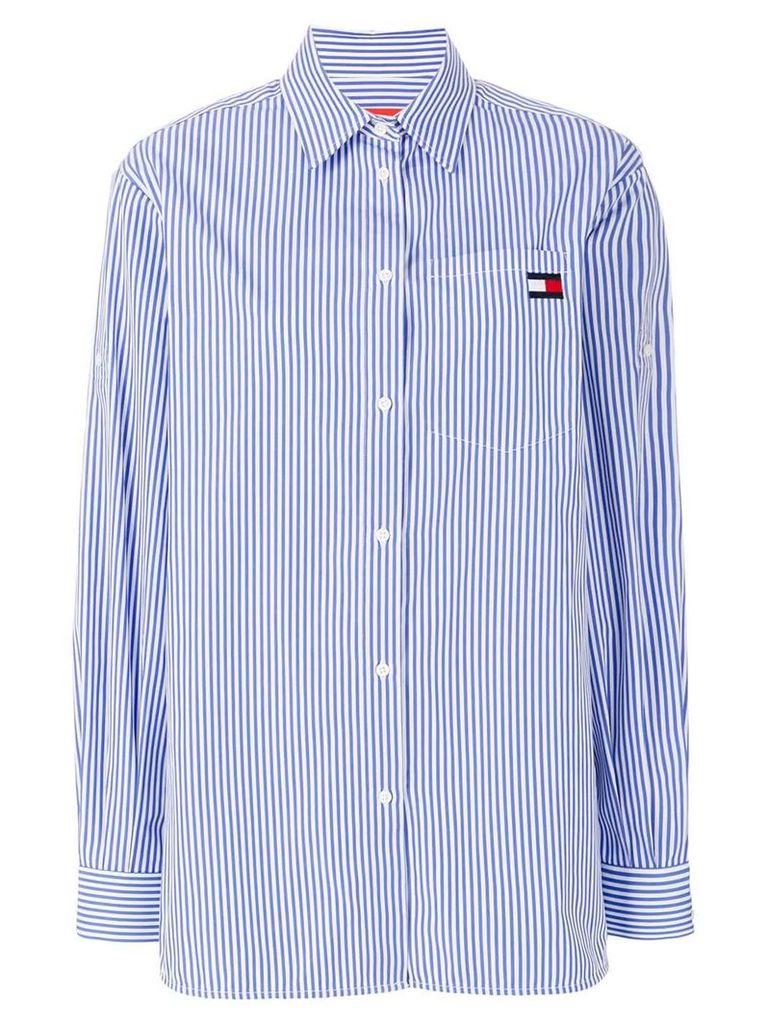 Tommy Hilfiger striped logo shirt - Blue
