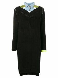 Diesel long-sleeve sweater dress - Black