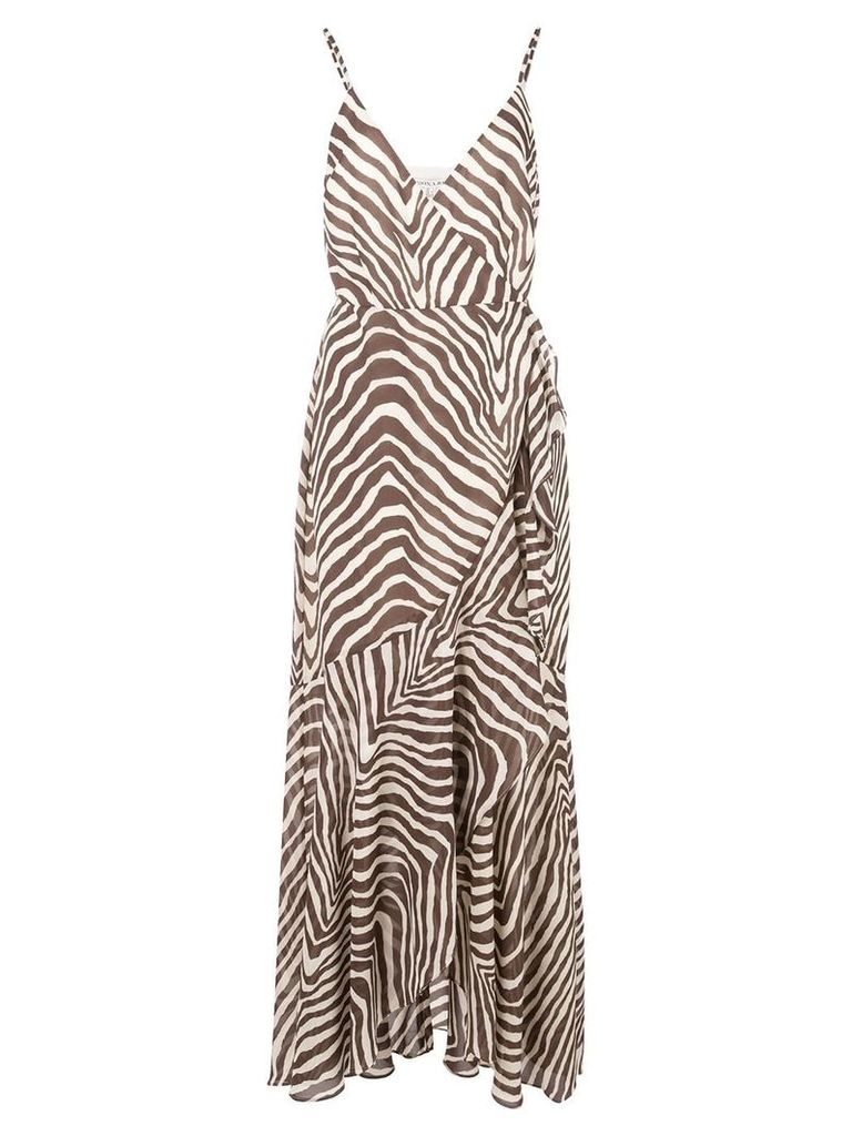 Shona Joy zebra print maxi dress - White