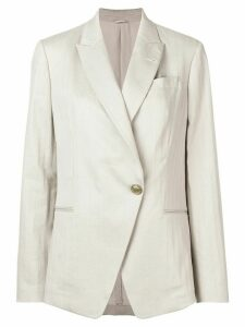 Brunello Cucinelli single-button blazer - NEUTRALS