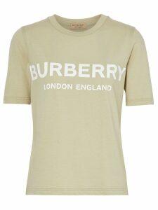 Burberry Logo Print Cotton T-shirt - Green