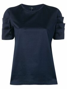 Fay short-sleeve fitted blouse - Blue