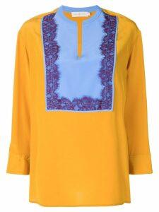 Tory Burch lace panel blouse - Orange