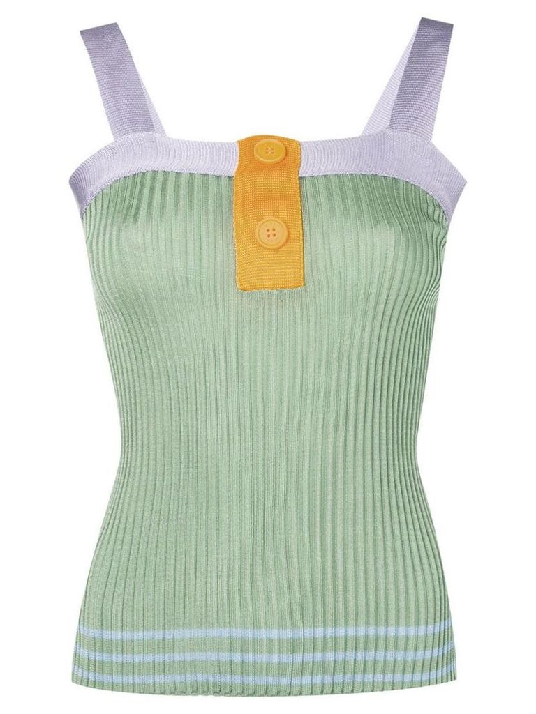 SJYP knitted bustier top - Green
