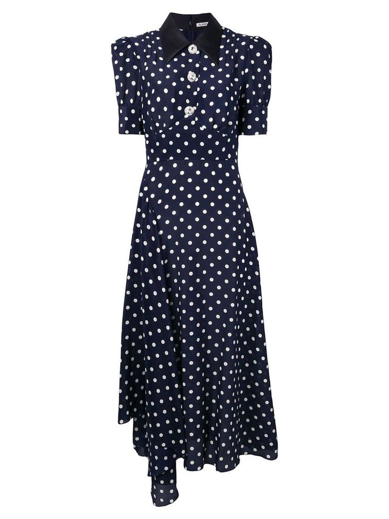 Alessandra Rich polka dot dress - Blue