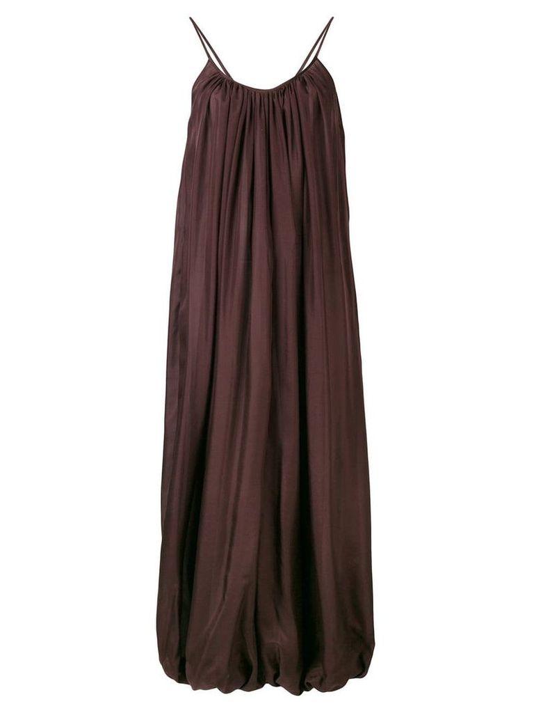 Kalita tapered long dress - Brown