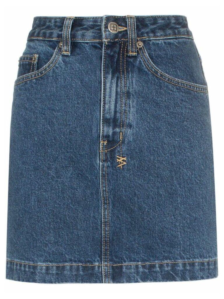 Ksubi super X denim mini skirt - Blue
