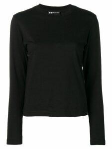 Y-3 graphic print long-sleeve top - Black