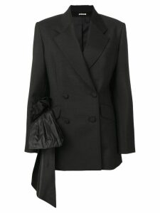 Miu Miu draped detail blazer - Black
