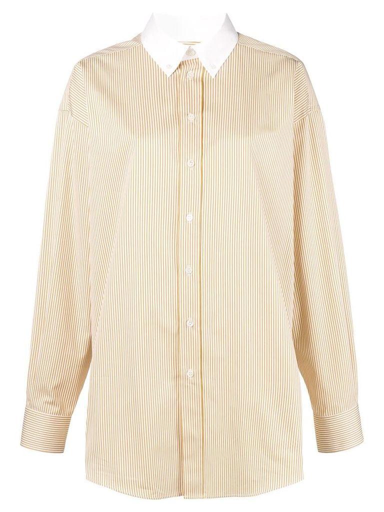 Melampo contrast collar shirt - White