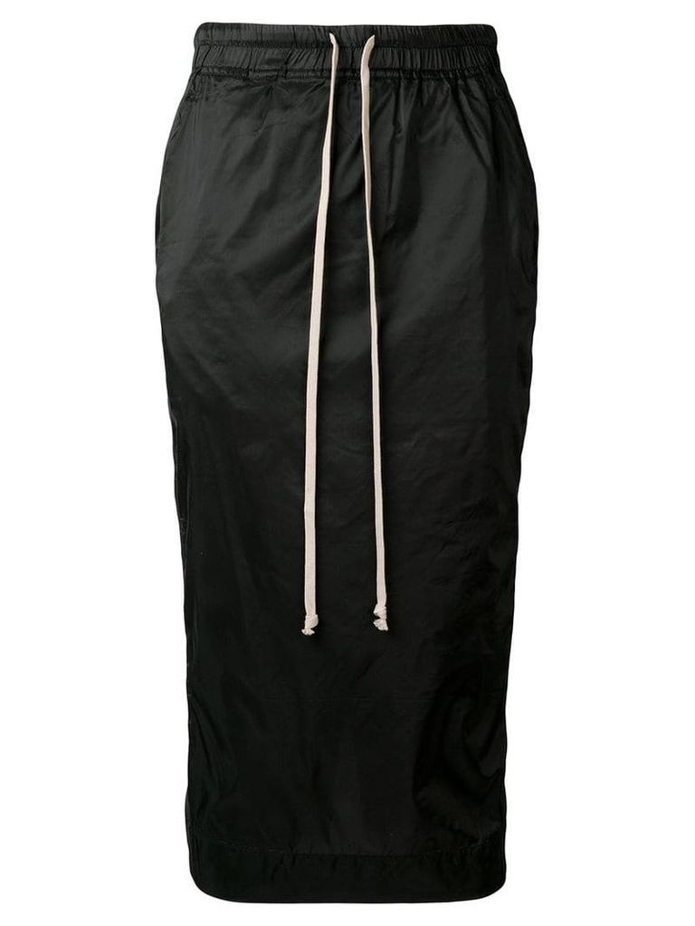 Rick Owens DRKSHDW nylon pencil skirt - Black