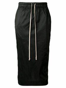 Rick Owens DRKSHDW nylon pencil skirt - Black