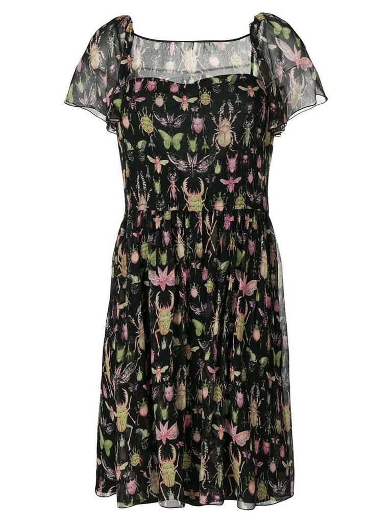 Red Valentino insect print dress - Black