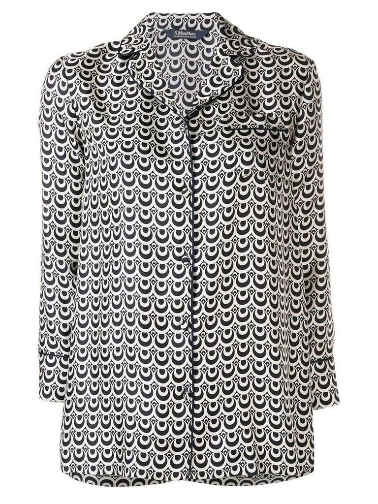 'S Max Mara geometric print shirt - Blue