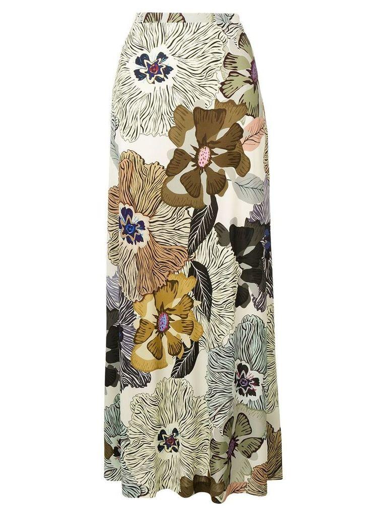 Etro long high-waist skirt - Neutrals