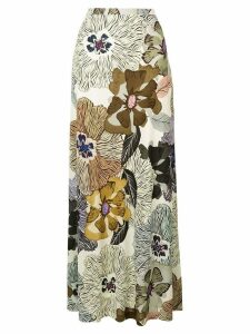 Etro long high-waist skirt - Neutrals