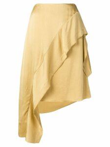 Nina Ricci asymmetric ruffled skirt - Neutrals