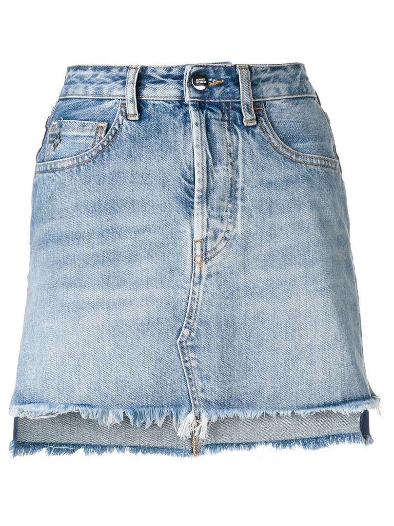 Marcelo Burlon County Of Milan vintage denim skirt - Blue