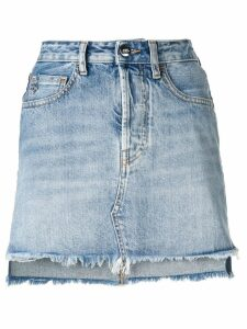 Marcelo Burlon County Of Milan vintage denim skirt - Blue