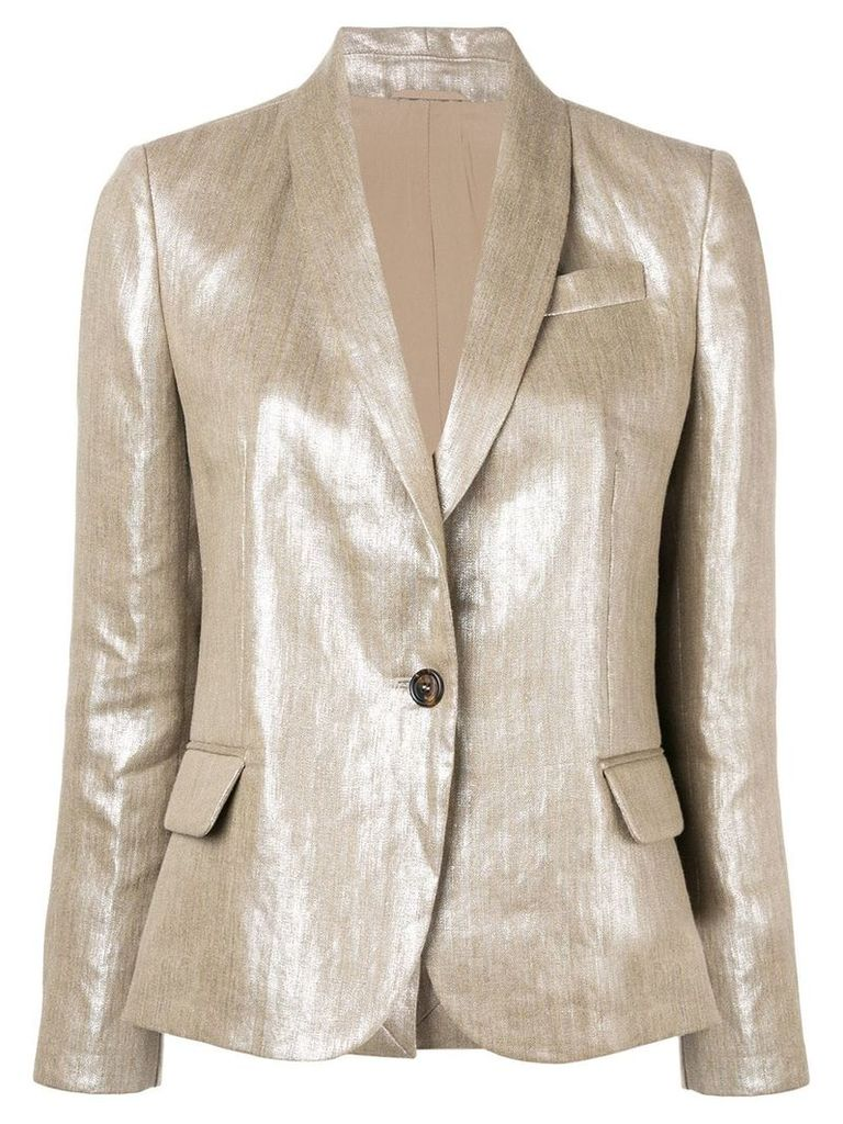 Brunello Cucinelli classic slim-fit blazer - Gold