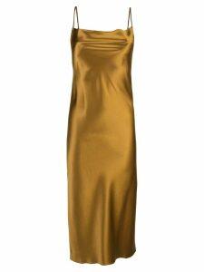 Fleur Du Mal cowl neck slip dress - Gold