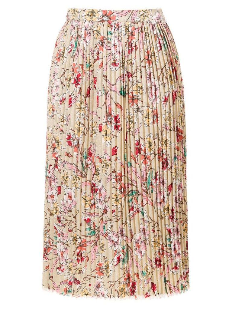 À La Garçonne linen printed skirt - Neutrals