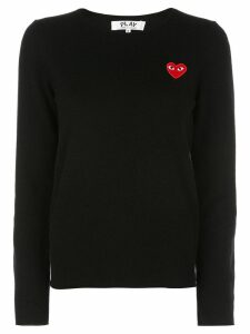 Comme Des Garçons Play heart long sleeve T-shirt - Black